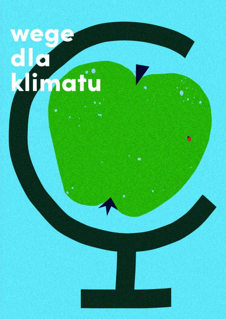 Plakat wege dla klimatu